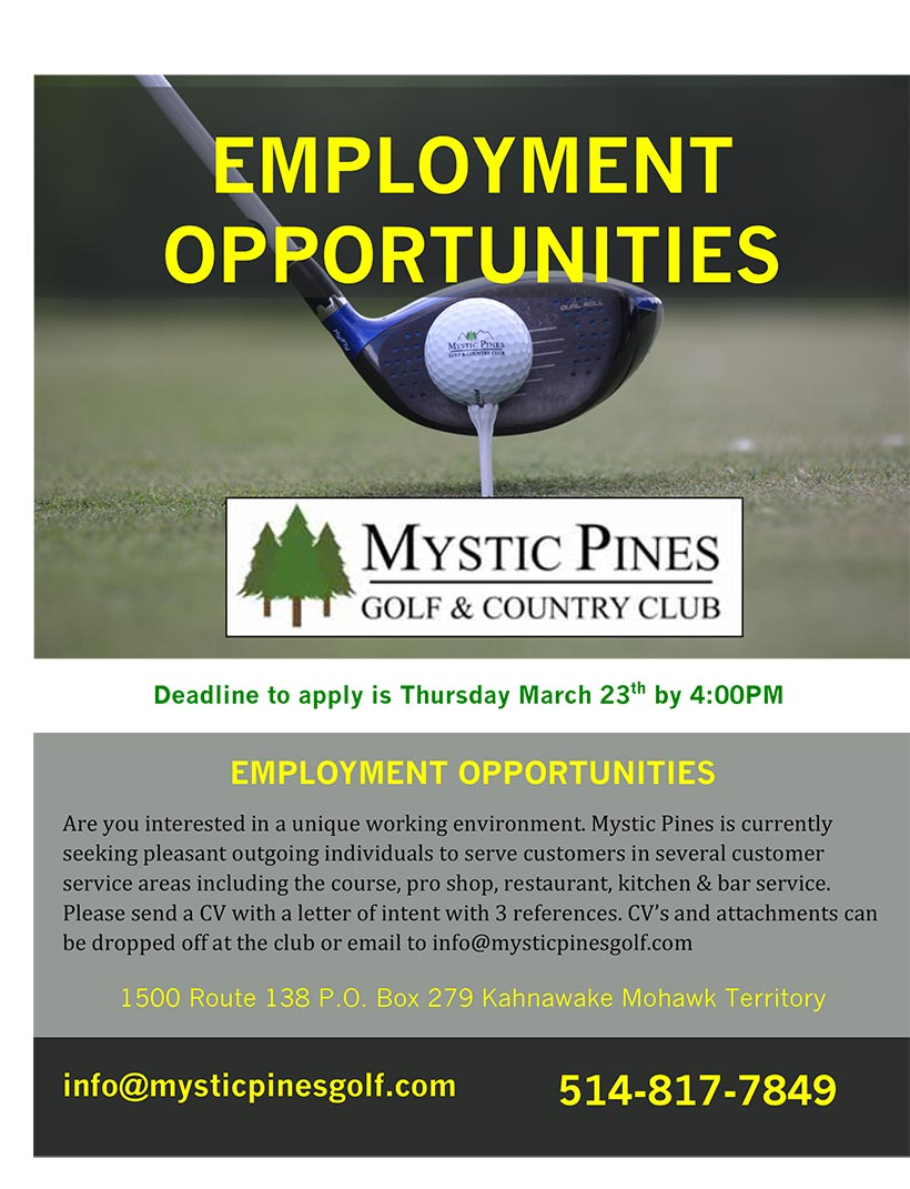 career mystic pines golf quick links